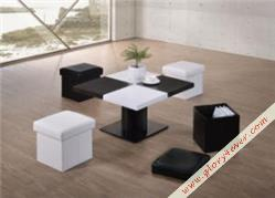 UNA (1 COFFEE TABLE+4 STOOLS)